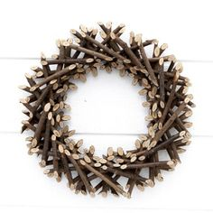 Wooden Wreath - Add a festive touch to your front door, dining table or mantle piece this Christmas