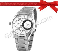 Rs.5,850.00 / $105.30 Shipping Charges Free Shipping To India(IND) Product Details  Brand: Giordano Model:   60056WH DTM Dial Color:  Silver white Dial Shape: Round Strap Color:  Silver Strap Material: Metal Water Resistance: Yes Warranty: 2 Years International Warranty. http://www.giftsomeone.com/watch-men-go-ft01/product_info.php/products_id/3547