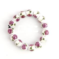 Rose Flowers Ceramic Bracelet
