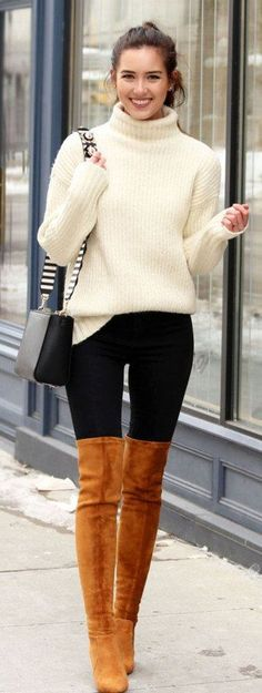 Cool 41 Cute Women Winter Outfit Ideas 2018. More at http://aksahinjewelry.com/2018/01/04/41-cute-women-winter-outfit-ideas-2018/ #womenclotheswinter