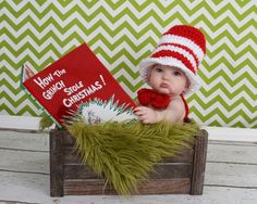 Christmas Pictures for Babies - Best Ideas for DIY Baby's First Christmas Photos. Looking for ideas of Christmas pictures for babies? Create your most adorable memories while your baby's first Christmas photoshoot ever! Xmas Photos, Holiday Pictures, Cute Photos, Holiday Ideas, Photo Bb, Grinch Christmas, Baby Christmas Pictures, Infant Christmas Photos, Christmas Photoshoot Ideas