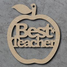 Best Teacher Apple Craft Shapes made from 4mm thick mdf wood For the Perfect Teacher Gift at the end of the year Smooth finish ready to paint and decorate Measurements from: 10cm to 40cm Other sizes available, Please get in touch Sizes specified are based on the longest dimension As all of our Craftshapes, Craft Blanks and Embellishments are laser cut they may have a slight brown edge mark which is easily painted or decorated over.