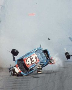Richard Petty takes a tumble at Daytona. We were there and saw this first hand. Very scary.