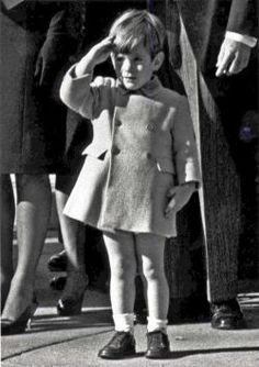 WASHINGTON, DC, USA: Little John F. Kennedy, Jr., salutes at his father's funeral procession.