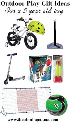 Best Outdoor Play Gift Ideas for a 5 Year Old Boy! List made by a mom of boys!