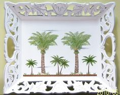Ornate palm tree wood serving tray by MoanasUniqueDesigns on Etsy, $45.00