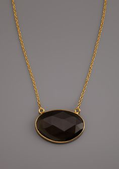 Argento Vivo: Oval Gemstone Faceted Necklace