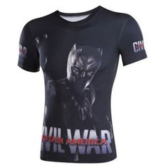 New Arrival iron Fitness Captain America Batman Civil War Tee T-shirts Male Crossfit Tops Compression