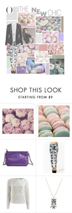 """""""''A dreamer is one who can only find his way by moonlight, and his punishment is that he sees the dawn before the rest of the world.'' Oscar Wilde"""" by escaping-in-my-mind ❤ liked on Polyvore featuring Shabby Chic, Pink Mint, GUESS by Marciano, Blumarine and Warehouse"""