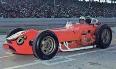 (first posted I bought a bunch of postcards, probably when I attended the Indy 500 in Many of my heroes were shown still driving Offy dinosaurs. Indy Car Racing, Indy Cars, 500 Cars, Indianapolis Motor Speedway, Cars Series, Old Race Cars, Model Cars Kits, Sprint Cars, Vintage Race Car