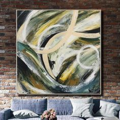 Extra Large Canvas Abstract Paintings On Canvas Acrylic Colorful Fine Art Modern Wall Decor | RIOT OF GREEN Abstract Paintings, Abstract Wall Art, Original Paintings, Gold Leaf Art, Large Canvas Art, Modern Wall Decor, Fine Art, Scarfs, Natural Materials