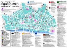 Squaring up to the Square Mile G20 London April 2009 #London #Map