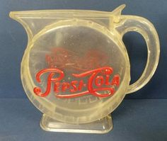 Vintage Pepsi Cola Advertising Water Pitcher 1950s Plastic
