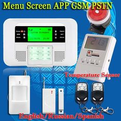 Free Shipping!Up G4B PSTN GSM English Russian Spanish Voice wireless wired LCD APP intercom Home Burglar Security alarm system