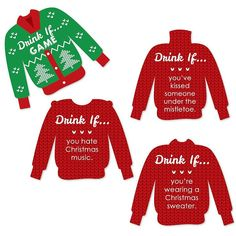 Ugly Sweater Christmas Party Awards I Parties Pinterest