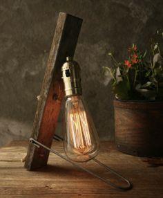 Luke's Manly Handmade Rustic Artisanal Lamps