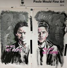 Done! This week I'm painting for @imalivechatline and their Supernatural Outreach Program.  IMAlive.org provides support for people in crisis. They do important and difficult work and they do it with empathy and compassion.  My art is entirely donated and is used to help raise funds for IMAlive.  If you're going to #seacon #spnsea in April make sure you check out imalive's table and add your messages of hope to my art. Your words and intent make a difference.  #art #supernatural…