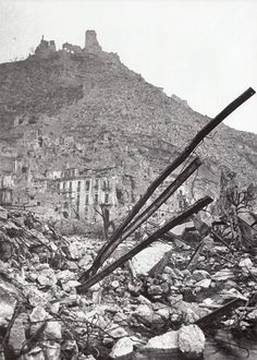 1944 Monte Cassino, Italy: The landings at Anzio had failed to outflank the Gustav Line, making an Allied breakthrough there in the Mediterranean an imperative. The New-Zealand Corps was ordered in early 1944 to lead an attack up the Liri Valley, which was overlooked by the historic Benedictine monastery of Monte Cassino, perched high over the coastal road from Naples to Rome. The Allies' advance through this area would end in the monastery's and area's ultimate destruction.