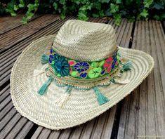 Gypsy Ibiza Straw Beach Hat  Cowboy Hat  by DazzlingGypsyQueen