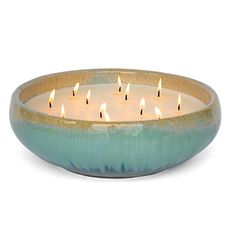 FlashPoint Candle ~Bennett~ Ceramic Glazed Pottery ~Coastal Breeze Citronella scent ~Color: Dune