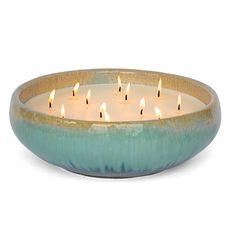 FlashPoint Candle ~Bennett~ Ceramic Glazed Pottery ~Coastal Breeze Citronella scent ~Color: Dune