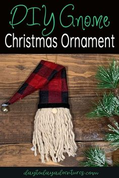 How to make an easy DIY Gnome Christmas Ornament — Day to Day Adventures - - Use buffalo plaid to make these easy DIY Christmas gnome ornaments for your Christmas tree or as a Christmas gift. Easy Christmas Ornaments, Christmas Decorations For Kids, Christmas Crafts For Gifts, Noel Christmas, Simple Christmas, Gnome Ornaments, Ornaments Ideas, Beaded Ornaments, Glass Ornaments
