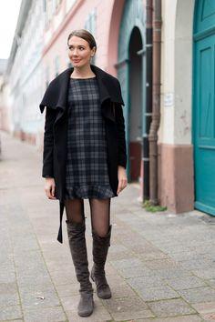 Outfit: 'Zara Mini Plaid Dress + Furla Club Bag' - Mood For Style - Fashion, Food, Beauty & Lifestyleblog