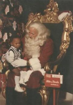 Santa at Miller and Rhoads Dept store in Richmond Virginia!
