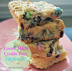 Easter M&M Cookie Bars spoons of grace 1