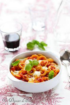 Gratin de pâtes aux tomates et mozzarella (alla Sorrentina)