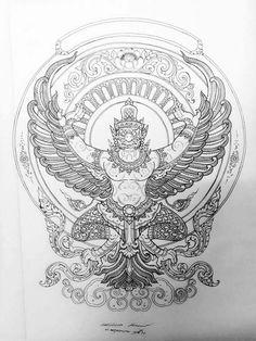 Thailand Tattoo, Thailand Art, Mother Earth Tattoo, Tibetan Tattoo, Khmer Tattoo, Thai Pattern, Dragon Tattoo For Women, Thai Art, Best Sleeve Tattoos