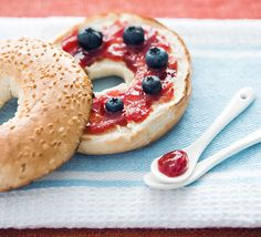 Bagel and jelly.....
