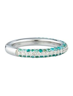 Pavé Paraiba & Diamond Ring