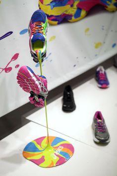 Concrete   Colors That Run: ASICS Makes Shopper's Marketing Fun See how I broke free from the Matrix for good at http://pinterest.corbintel.com
