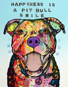 Happiness is a pit bull smile.