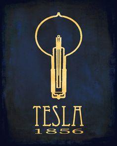Nikola Tesla Steampunk Rock Star Scientist Print | Prints av… | Flickr