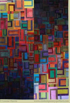 "Image of ""Double Vision"" quilt by Louise Harris."