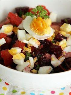 Recette de Salade de betteraves à l'oeuf dur : la recette facile
