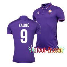 Maillot de ACF Fiorentina 2016/17 Homme KALINIC 9 Domicile Violet Manche Courte   Personnaliser en Thailande