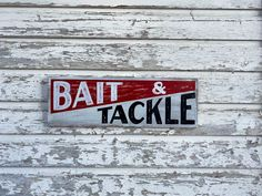 Bait and Tackle custom hand painted sign vintage fishing sign by on Etsy