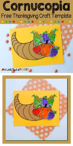 Cornucopia Thanksgiving Kids Craft and Free Template