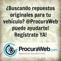 Busca los repuestos para tu carro desde la comodidad de tu oficina ahorra tiempo y dinero con @ProcuraWeb!  #BMW #Chery #Chevrolet #Chrysler #Dodge #Fiat #Ford #Geely #GreatWall #Honda #Hyundai #Jeep #Kia #Mazda #Mercedes #Mitsubishi #Nissan #Peugeot #Renault #Toyota #Volkswagen