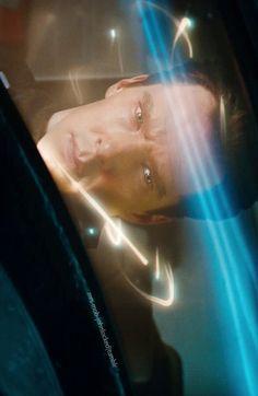 Benedict Cumberbatch as Khan in Star Trek.