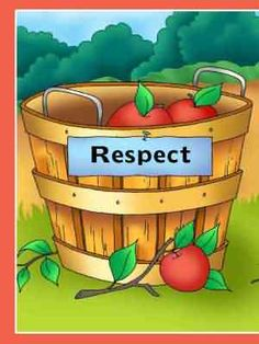 This game will help kids recognize some ways they can show respect. Print out the game and pieces. Place all the apple shapes in the middle of the table, face down. Take turns reading the sentences on the apples, and place them on the appropriate baskets.