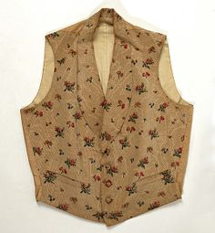 Evening vest  Date:     late 1840s Culture:     European Medium:     silk Dimensions:     Length (shoulder seam to front lower edge...