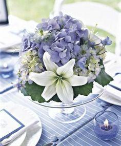table mariage en bleu et blanc                              …