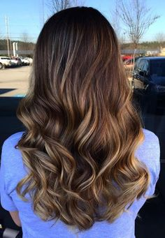 Hair Color Ideas 2018 : soft brunette ombre balayage highlights Discovred by : Mane Interest Brunette Ombre Balayage, Balayage Ombré, Long Brunette, Balayage Highlights, Hair Color Balayage, Brunette Hair, Ombre Hair, Caramel Highlights, Hot Hair Colors