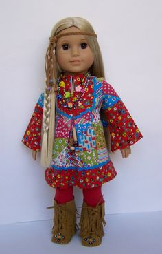 Caftan Dress for American Girl  Vintage by MyOwnLittleWorldToo