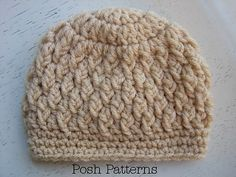 Ravelry: Faux Cable Crochet Hat Pattern 237 pattern by Posh Patterns