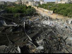 La bande de Gaza après les raids israéliens